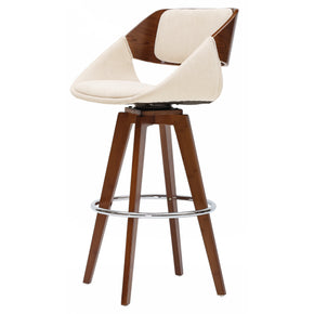 New Pacific Direct 1160004-290W Cyprus Fabric Bar Stool Santorini Sand Beige