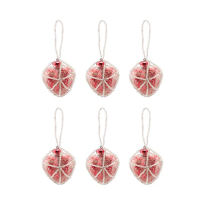Beaded Ornaments Set - Red Heart Ornament