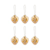 Beaded Ornaments Set - Gold Heart Ornament
