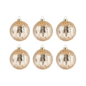 Round Optic Set Of 6 Ornaments Gold Ornament
