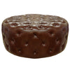 Ottomans - Armen Living LC5005OTBR Victoria Ottoman In Brown Bonded Leather | 700220755307 | Only $399.80. Buy today at http://www.contemporaryfurniturewarehouse.com