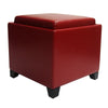 Ottomans - Armen Living LC530OTLERE Rainbow Contemporary Storage Ottoman With Tray in Red Bonded Leather | 700220754201 | Only $109.00. Buy today at http://www.contemporaryfurniturewarehouse.com