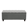 Park Ave Tufted Lift-Top Storage Trunk - Grey Linen