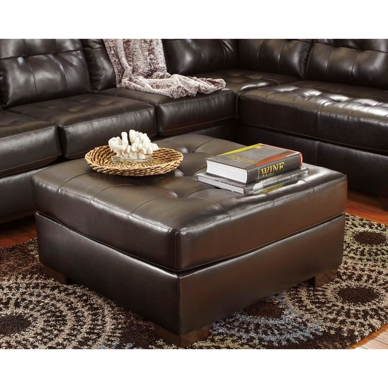 Signature Design By Ashley Alliston Oversized Ottoman In Chocolate Durablend