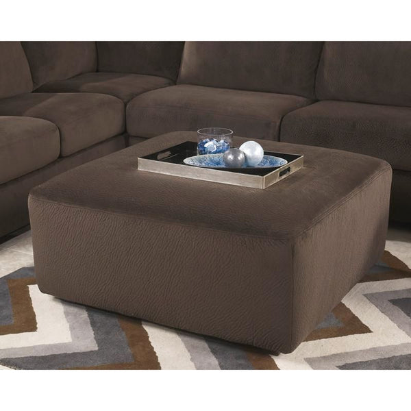 Signature Design By Ashley Jessa Place Oversized Ottoman In Dune Fabric Chocolate