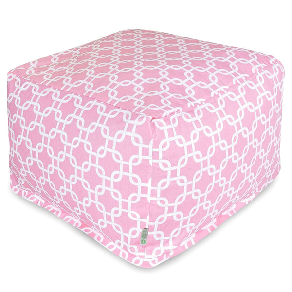 Soft Pink Links Large Ottoman