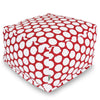 Red Hot Large Polka Dot Ottoman
