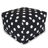 Black Large Polka Dot Ottoman