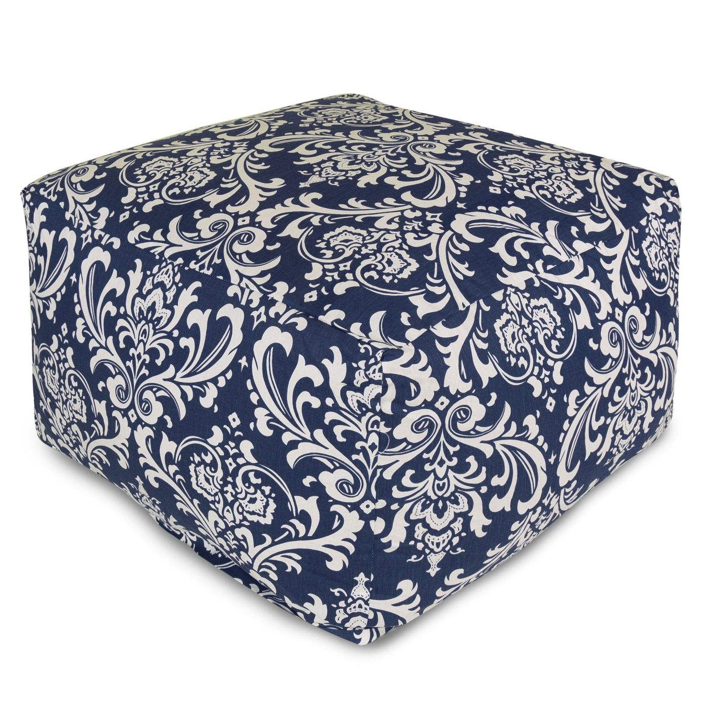 majestic home navy blue french quarter large ottoman at contemporary furniture warehouse. Black Bedroom Furniture Sets. Home Design Ideas