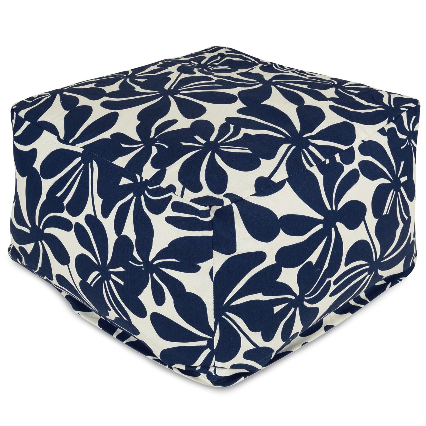 amazing deal on majestic home 85907220218 navy blue plantation large ottoman at contemporary. Black Bedroom Furniture Sets. Home Design Ideas