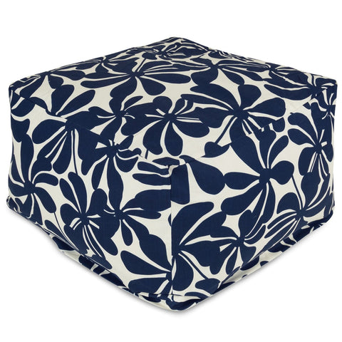 Navy Blue Plantation Large Ottoman