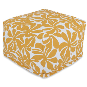 Yellow Plantation Large Ottoman