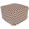 Chocolate Chevron Large Ottoman