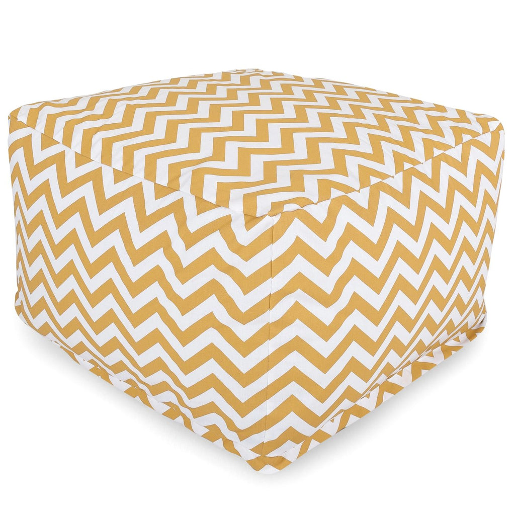 Yellow Chevron Large Ottoman