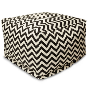 Black Chevron Large Ottoman