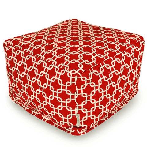 Red Links Large Ottoman