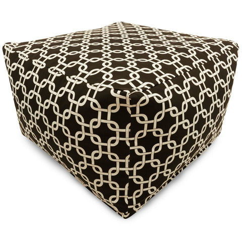 Black Links Large Ottoman