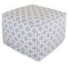 Gray Links Large Ottoman