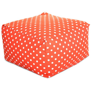 Orange Ikat Dot Large Ottoman