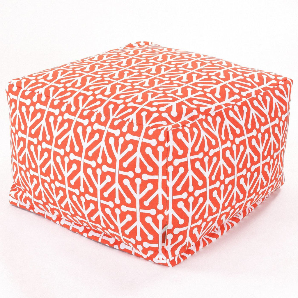 Orange Aruba Large Ottoman