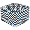 Navy Chevron Large Ottoman