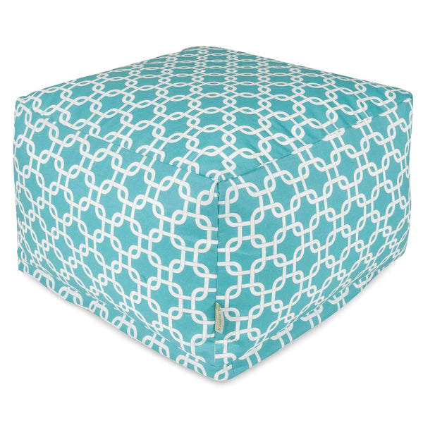 Teal Links Large Ottoman