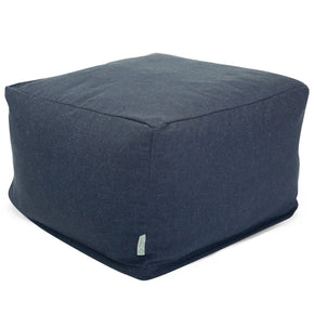 Navy Wales Large Ottoman