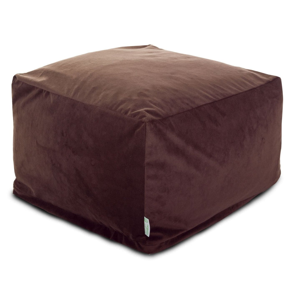 Dark Brown Micro-Velvet Large Ottoman