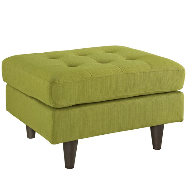 Empress Upholstered Ottoman Wheatgrass