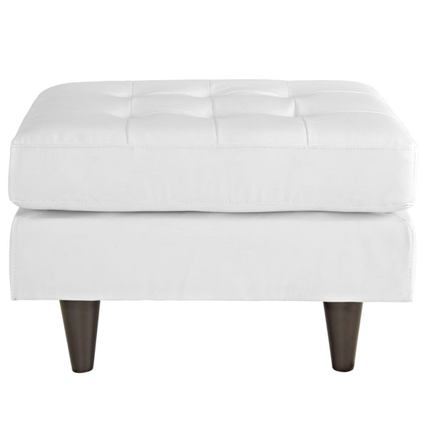 Ottomans - Modway EEI-1668-WHI Empress Bonded Leather Ottoman | 848387059736 | Only $171.00. Buy today at http://www.contemporaryfurniturewarehouse.com