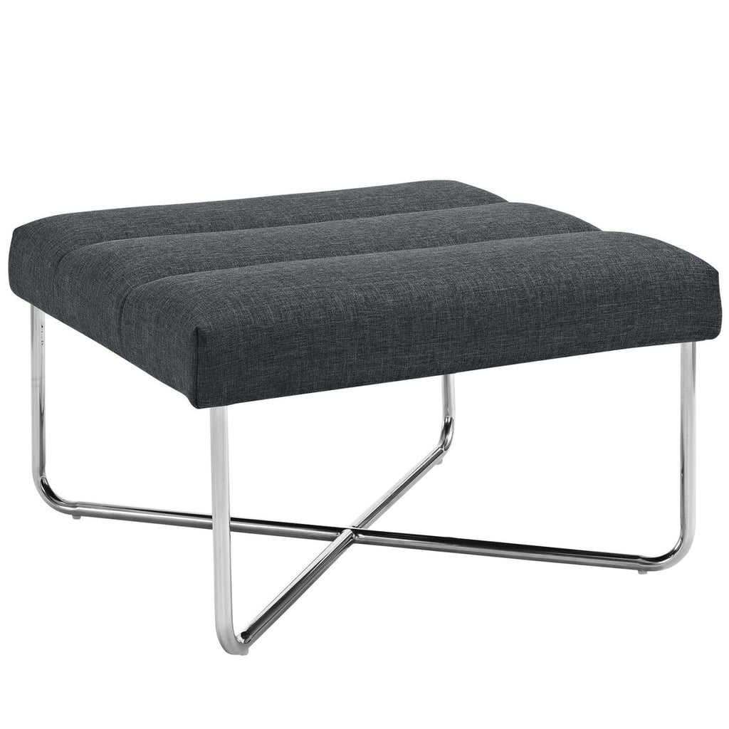 Reach Upholstered Ottoman Gray