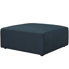 Mingle Fabric Ottoman Blue