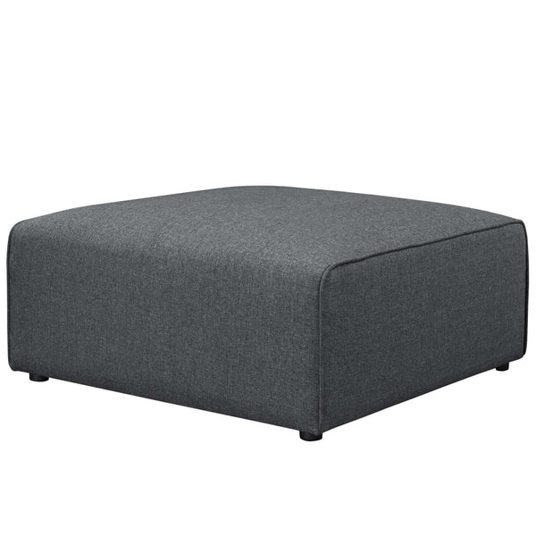 Ottomans - Modway EEI-2726-GRY Mingle Fabric Ottoman | 889654106463 | Only $321.25. Buy today at http://www.contemporaryfurniturewarehouse.com