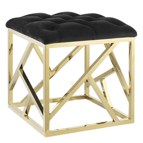 Intersperse Ottoman Gold Black