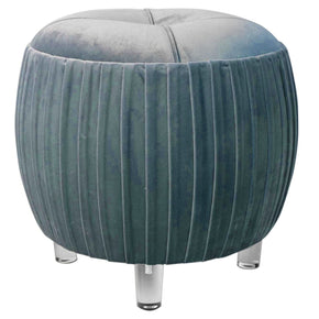 New Pacific Direct Helena Velvet Small Tufted Round Ottoman Acrylic Legs, Emerald Green 1600022-185 | 842587119290| $155.80. Ottomans - . Buy today at http://www.contemporaryfurniturewarehouse.com