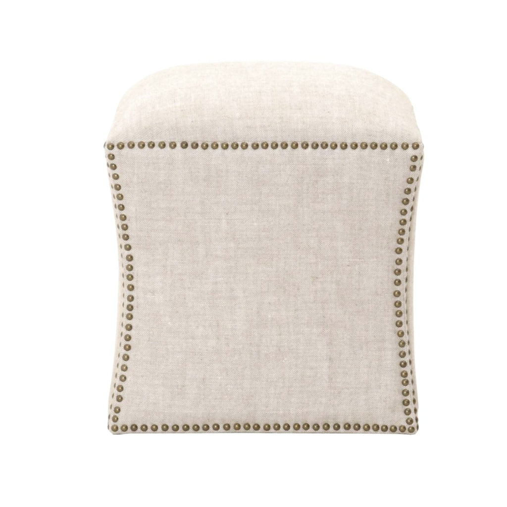 York Square Footstool Bisque Ottoman
