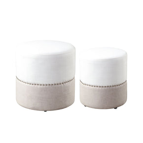 Tilda Two-Toned Nesting Ottomans S/2 Ottoman