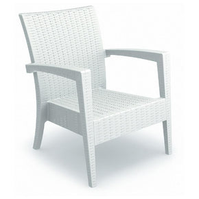 Miami Resin Club Chair White (Set Of 2) Outdoor Armchair