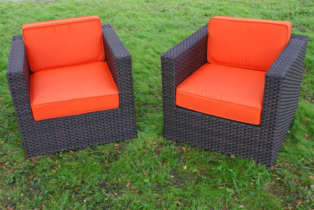 Bellagio Armchair 2-Pc Set Orange Outdoor