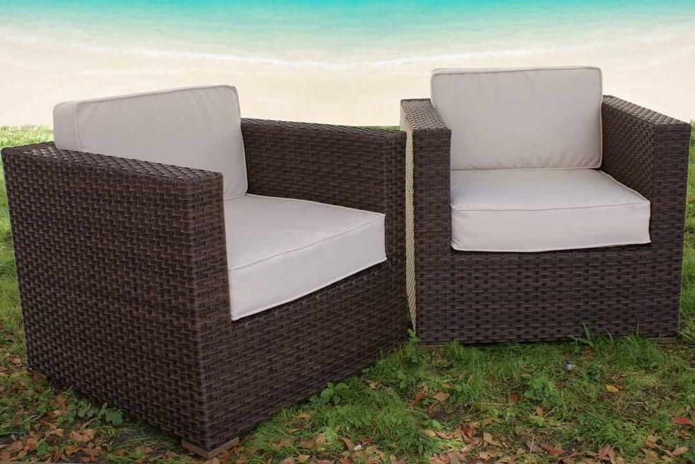 Bellagio Armchair 2-Pc Set Off-White Outdoor