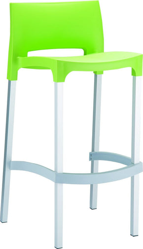 Gio Outdoor Barstool Apple Green (Set Of 2) Bar Chair