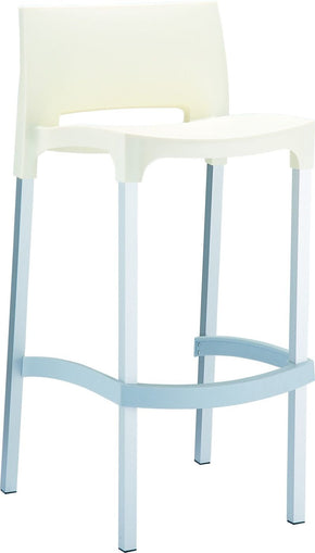 Gio Outdoor Barstool Beige (Set Of 2) Bar Chair