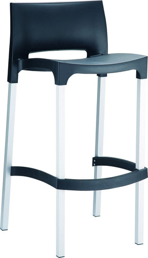 Gio Outdoor Barstool Black (Set Of 2) Bar Chair