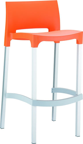 Gio Outdoor Barstool Orange (Set Of 2) Bar Chair