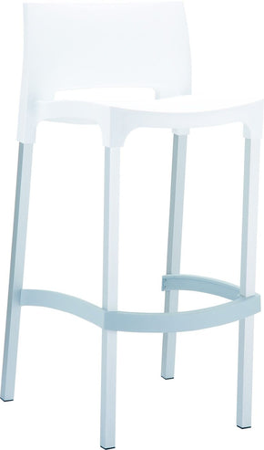 Gio Outdoor Barstool White (Set Of 2) Bar Chair