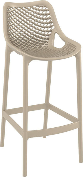 Outdoor Bar Chairs - Compamia ISP068-DVR Air Bar Stool Dove Gray (Set of 2) | 8697443554386 | Only $369.99. Buy today at http://www.contemporaryfurniturewarehouse.com