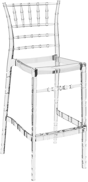 Chiavari Polycarbonate Barstool Transparent Clear (Set Of 2) Outdoor Bar Chair