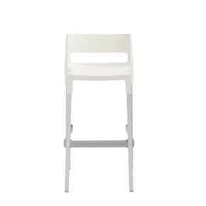 Divo Stackable Bar Stool In Linen With Aluminum Legs  - Set Of 4 Outdoor Chair