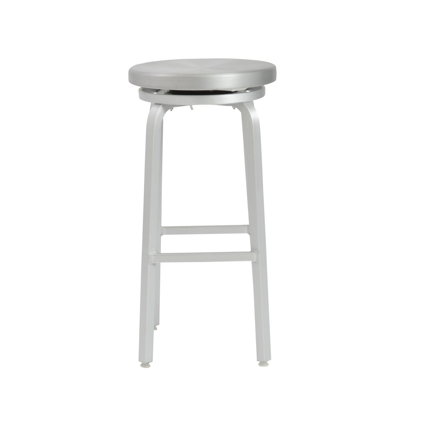 Strange Buy Euro Style Euro 4212 Miller Swivel Bar Stool In Matte Aluminum At Contemporary Furniture Warehouse Andrewgaddart Wooden Chair Designs For Living Room Andrewgaddartcom