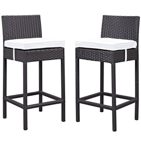 Lift Bar Stool Outdoor Patio Set Of 2 Espresso White Chair